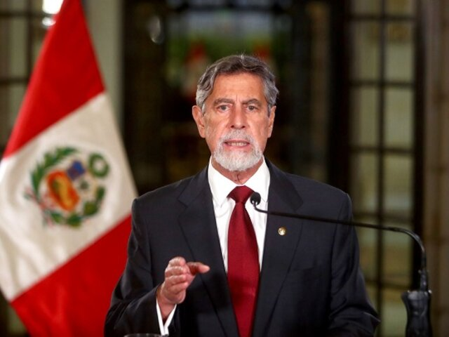"""Presidente Sagasti: """"no paralizaremos negociaciones para adquirir más vacunas"""""""