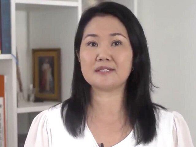"""Keiko Fujimori sobre Odebrecht: """"Se tiene que sancionar a todas las empresas corruptas"""""""