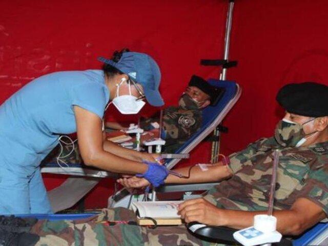 Agentes de la Diroes donaron sangre para niños que padecen cáncer