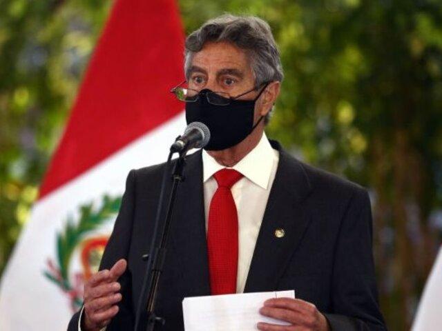 """Francisco Sagasti: """"No queremos que el que tiene plata se vacune y el que no tiene, no"""""""