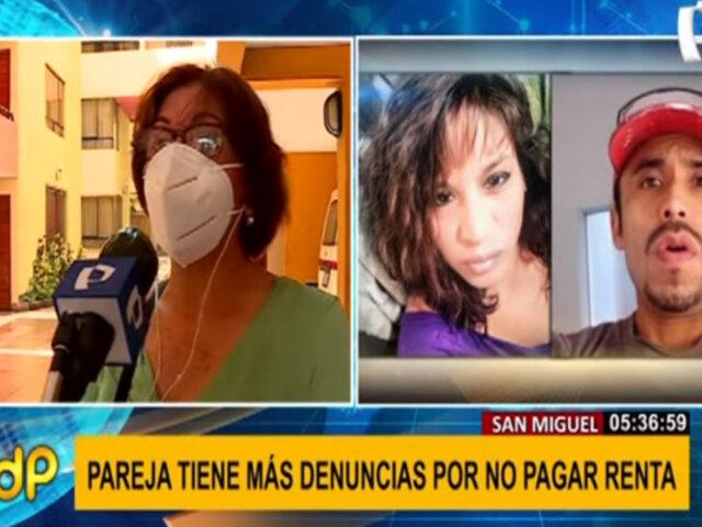Inquilinos morosos en San Miguel: pareja tiene más denuncias por no pagar renta