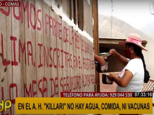 """Comas: piden ayuda para abastecer olla común en la zona de """"Killari"""""""