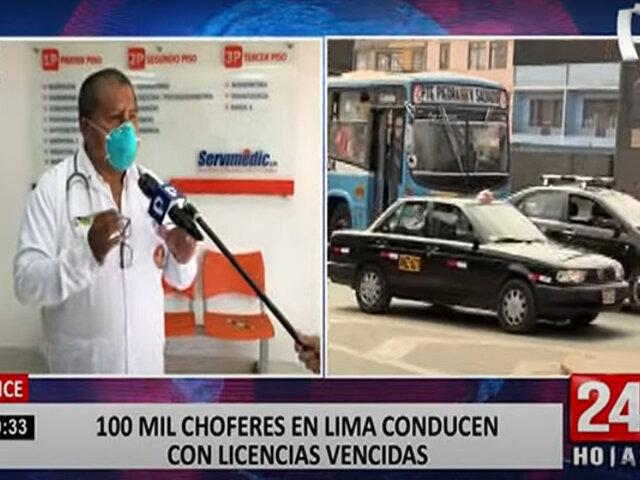 Lince: más de 100 mil choferes conducen con licencias vencidas