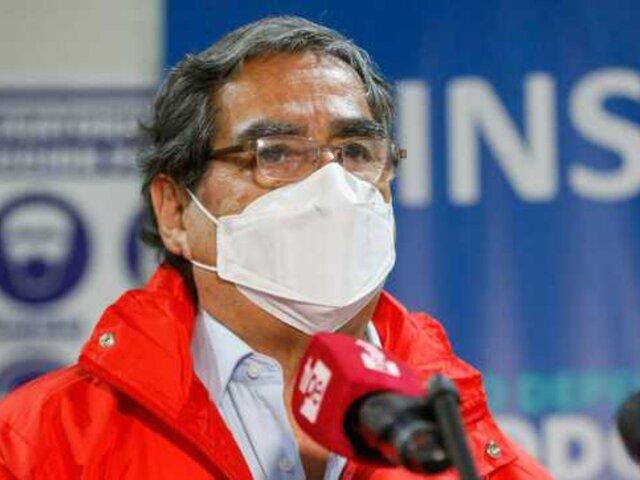 Ugarte confirma que Minsa no autorizará vacuna solicitada por FPF