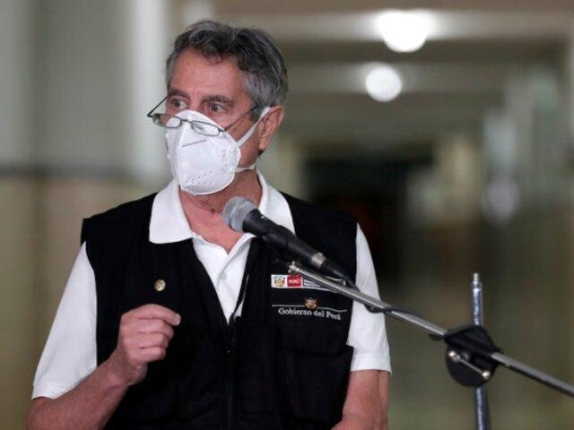 Sagasti: En ningún momento pasó por mi mente vacunarme en secreto
