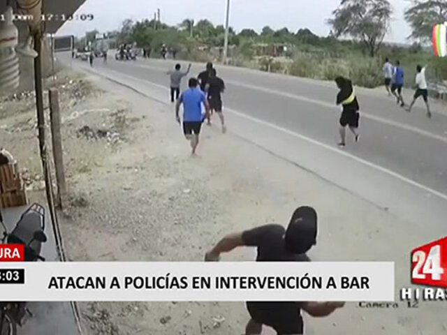 Piura: atacan a policías que se disponían a intervenir bares clandestinos