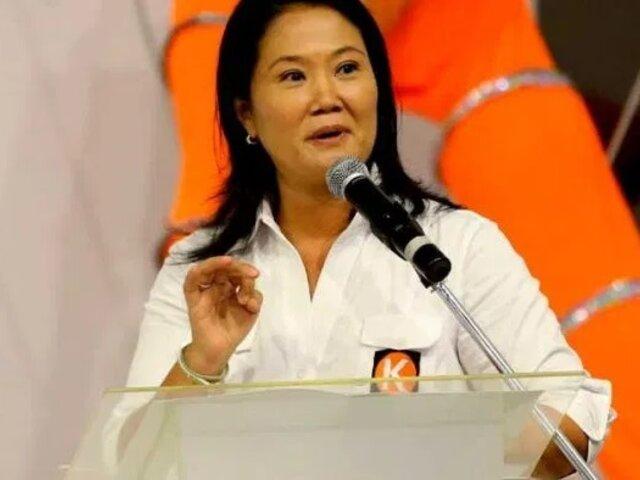Keiko Fujimori: PJ autoriza que viaje fuera de Lima durante campaña electoral