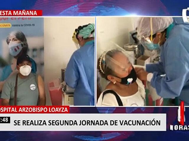 Hospital Arzobispo Loayza: inicia segundo periodo de vacunación contra la COVID-19