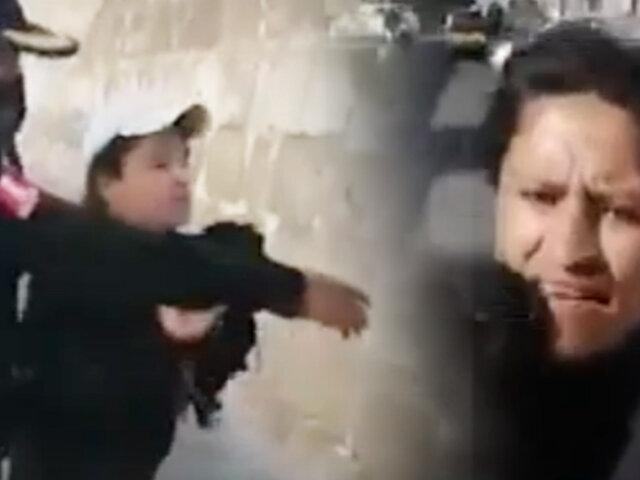 Arequipa: mujer se resiste a ser intervenida por no usar mascarilla