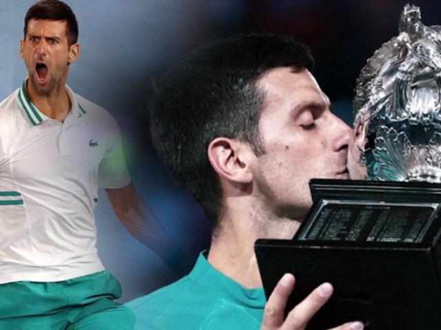 Novak Djokovic conquistó el Abierto de Australia