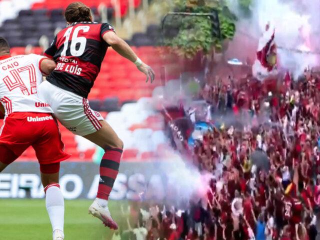 Brasileirao sin protocolos: Flamengo venció 2-1 al Inter y está cerca del bicampeonato