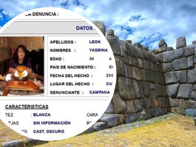 Cusco: buscan intensamente a ciudadana extranjera que desapareció camino a Sacsayhuamán