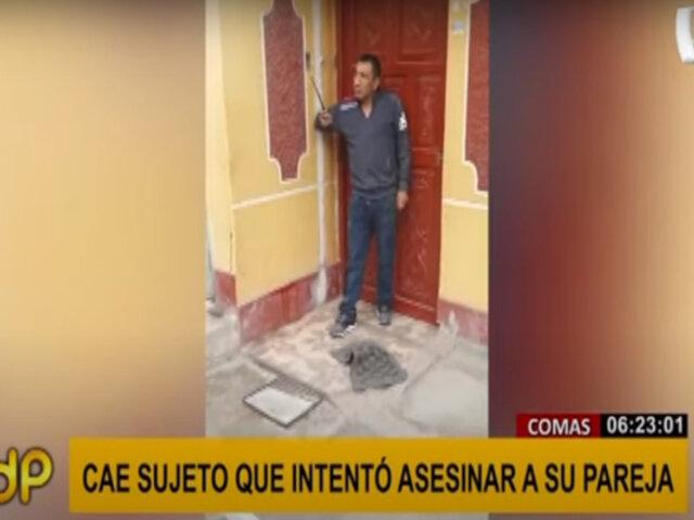 Comas: capturan a sujeto que intentó asesinar a su pareja a cuchillazos