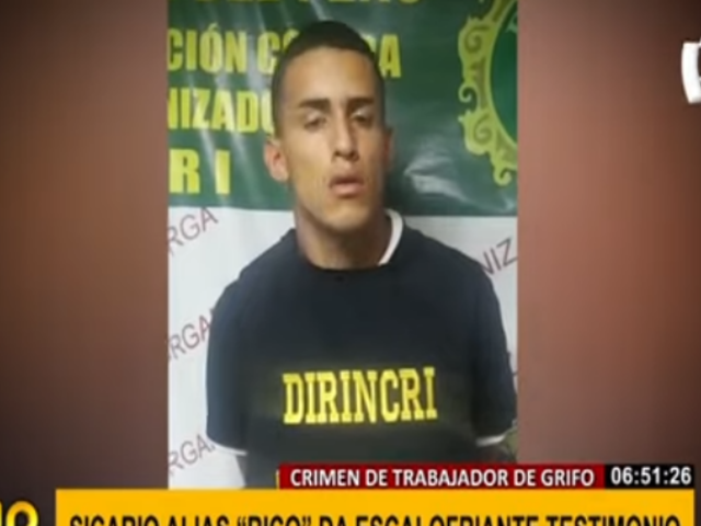 'Rico': la escalofriante confesión del responsable de la muerte de joven grifero en VMT
