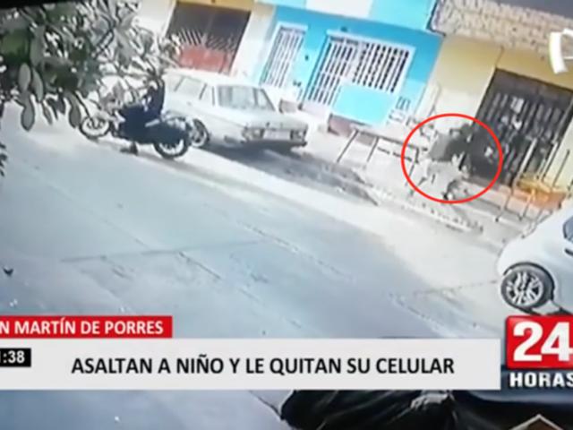 San Martín de Porres: asaltan a niño y le quitan su celular