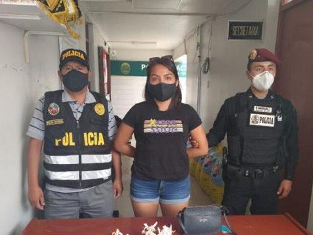 PNP captura a mujer con 'happy chocotejas' rellenas con marihuana