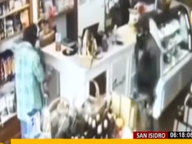 San Isidro: así fue el asalto a panadería por banda de delincuentes