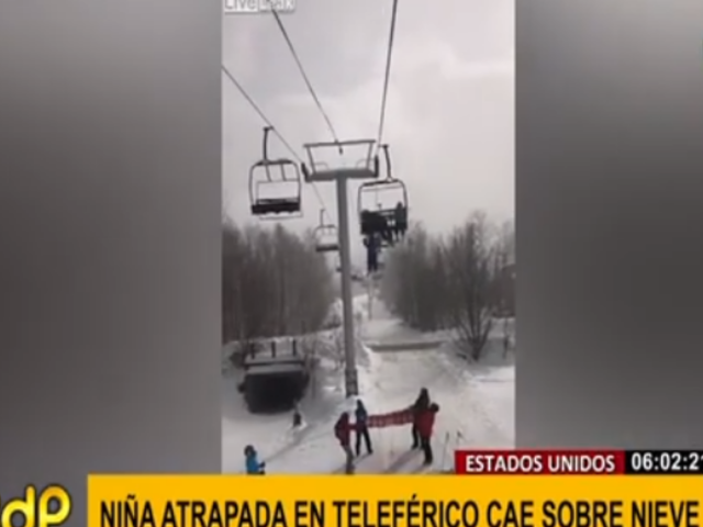 EEUU: niña cae de teleférico durante rescate