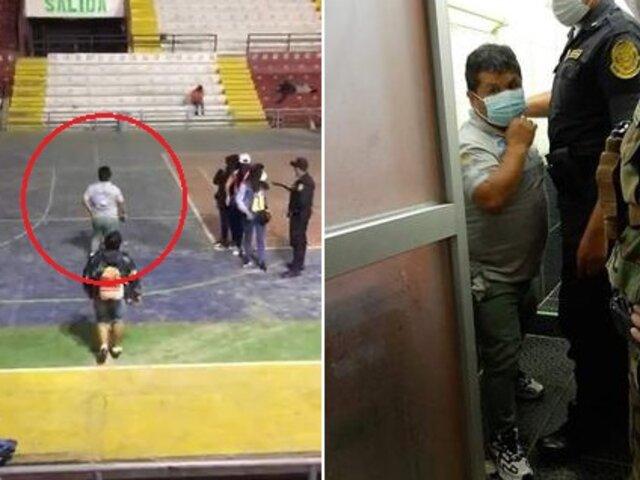 Huánuco: regidor se esconde en el baño tras ser intervenido en reunión social