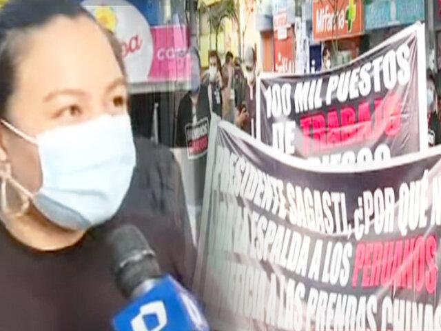 Plantón en Gamarra: empresarios textiles viven sus días más difíciles en Pandemia