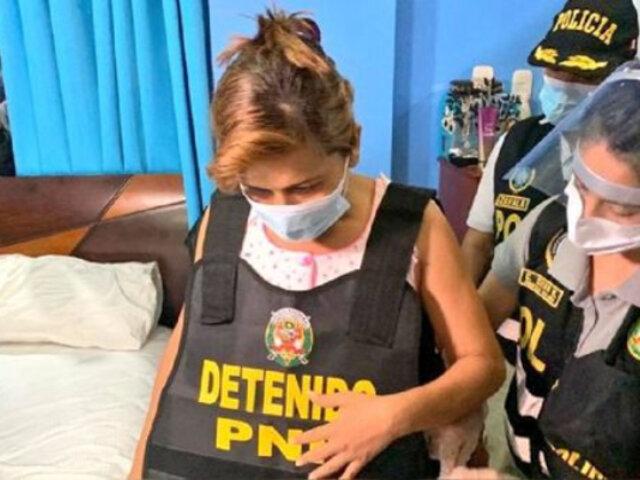 Ucayali: desarticulan presunta red criminal liderada por alcaldesa de Yarinacocha