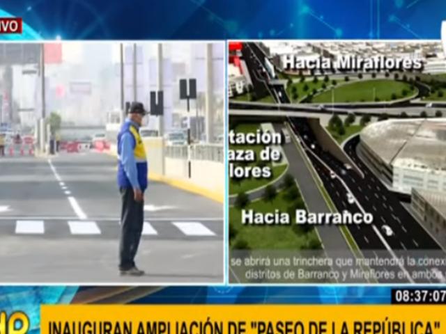 Alcalde Muñoz inauguró ampliación Paseo de la República