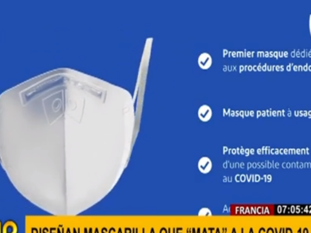 Francia: sale a la venta mascarilla que mata virus, incluido el COVID-19