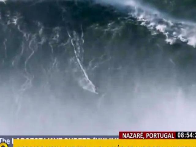 WSL confirma récord de la ola más alta de la historia en Nazaré