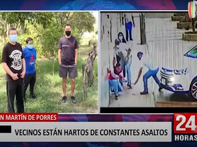 Robos, raqueteos, sicariato y comercio informal amenazan a vecinos de San Martín de Porres