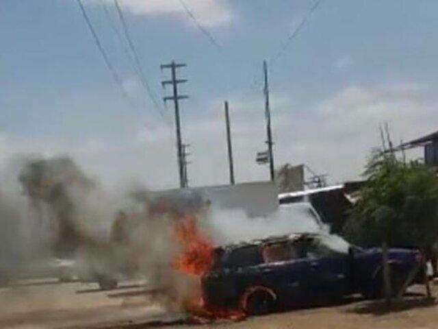 Mecánico salva de morir luego que el vehículo que arreglaba comenzara a incendiarse