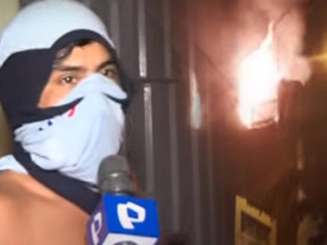 Incendio consume tercer piso de una vivienda en Independencia