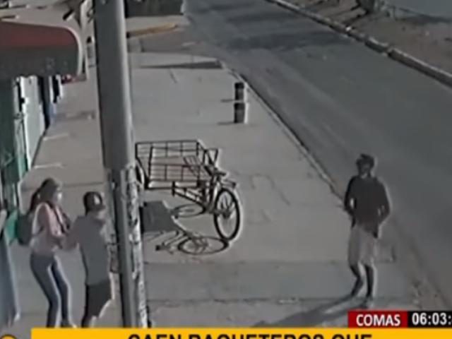 Comas: capturan a delincuentes que minutos antes robaron celular a joven