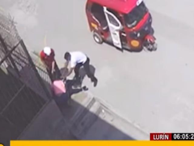 Lurín: madre e hija son asaltadas por 'raqueteros' en mototaxi
