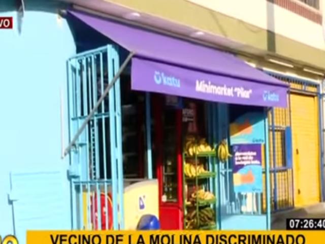 Bodeguero denuncia discriminación de vecinos de La Molina por color de su negocio