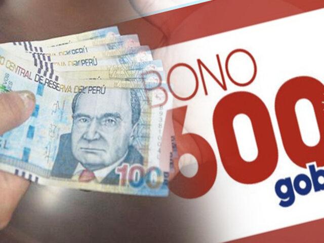 Bono 600: cerca del 80% de hogares de la primera etapa ya cobraron subsidio del Estado