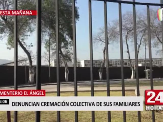 Cementerio El Ángel: denuncian cremación colectiva de sus familiares