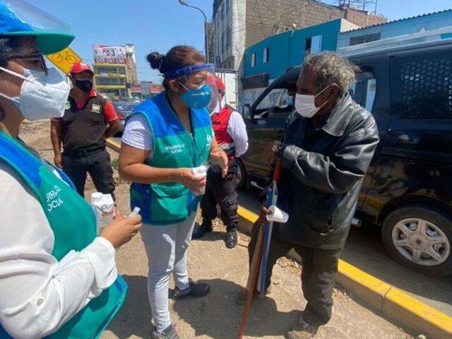 MML llevó a cabo operativo para rescatar y ayudar a indigentes en SMP