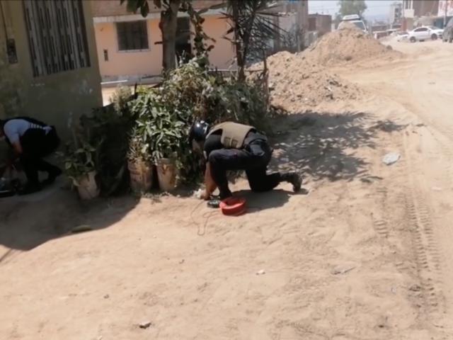 Trujillo: agentes de UDEX desactivaron cartucho de dinamita