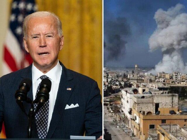 Siria: primer bombardeo ordenado por Biden deja 17 muertos