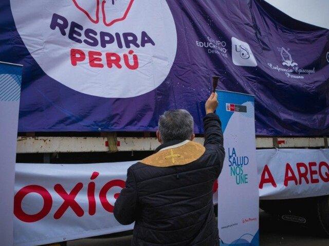 'Respira Perú' entregó 13 plantas de oxígeno y más de 2 mil respiradores mecánicos
