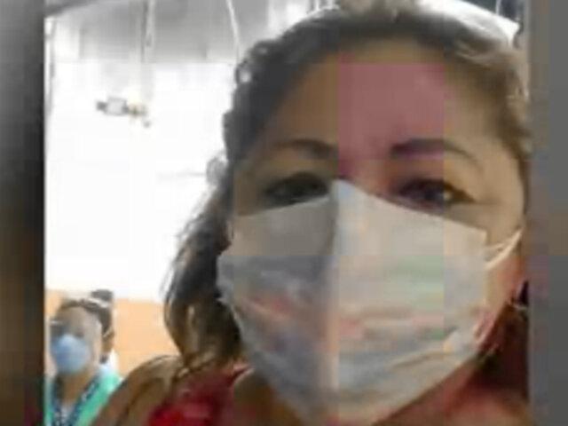 Iquitos: enfermera vacunada contra el COVID tiene 80% de sus pulmones comprometidos