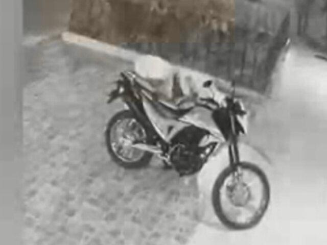 Iquitos: sujetos intentaron robar moto pero fueron capturados