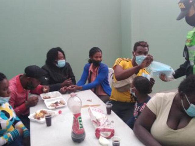 Arequipa: intervienen a 14 haitianos ilegales que se movilizaban a bordo de una de miniván