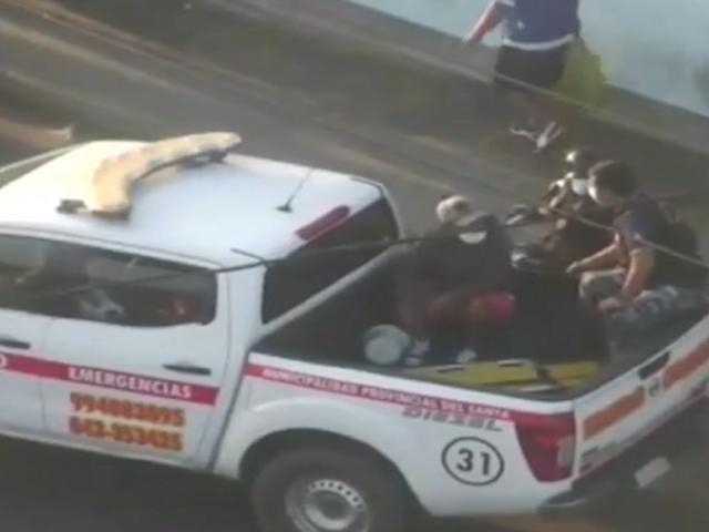 Chimbote: capturan a ladrón que robó autopartes a plena luz del día