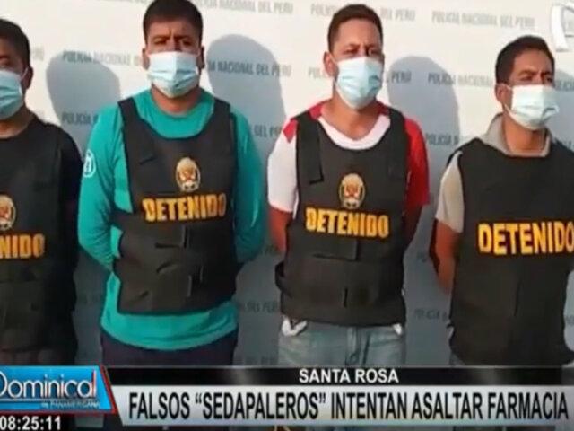Santa Rosa: sujetos se hacen pasar por trabajadores de 'Sedapal' para asaltar farmacia