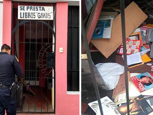 Surquillo: roban más de 2 mil libros destinados a bibliotecas de barrios vulnerables