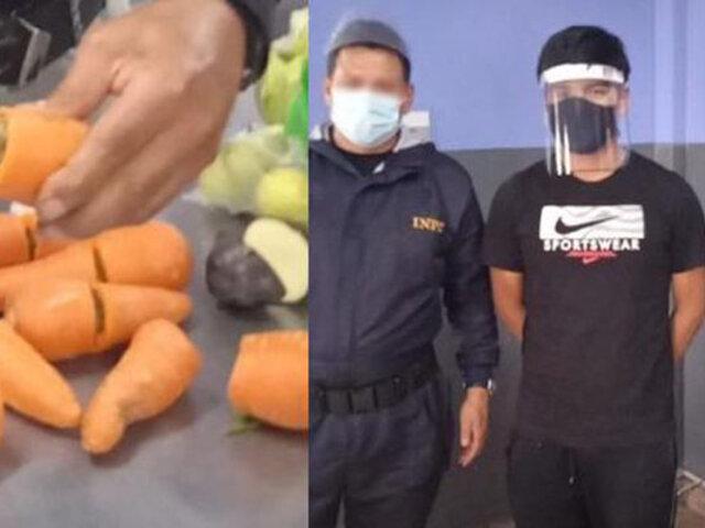 Intervienen sujeto que intentó ingresar zanahorias con marihuana al  penal de Arequipa