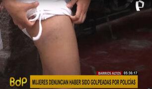 Barrios Altos: denuncian agresión policial contra mujeres por pedir que no atropellen a su mascota