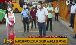 Terminal de Yerbateros: pasajeros y conductores piden no exigir pruebas negativas para viajes