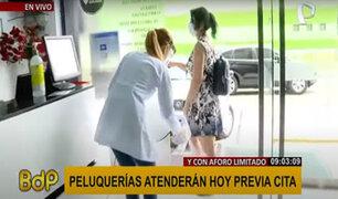 Sin cuarentena: peluquerías reanudan actividades desde hoy pero con cita previa